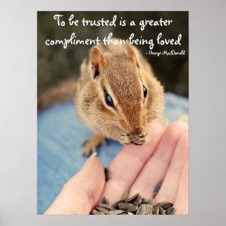 Trusting Chipmunk Poster