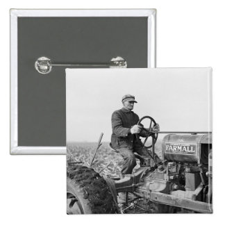 Trusty Old Tractor, 1930s 15 Cm Square Badge