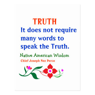 TRUTH American Indian Words of Wisdom Postcards