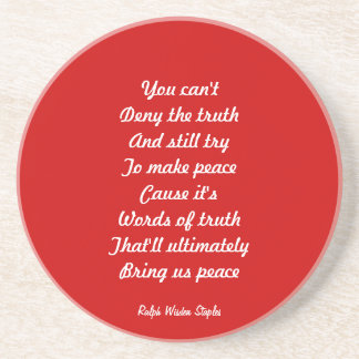 truth and peace drink coasters