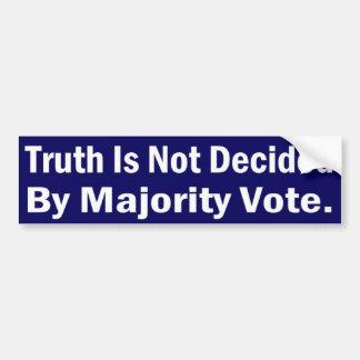 Truth decided bumper sticker