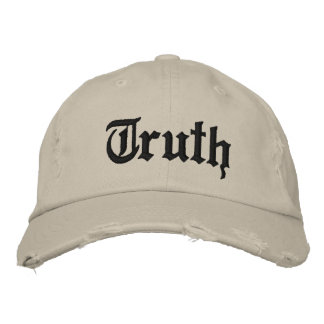 Truth Distressed Chino Twill Cap Embroidered Hats