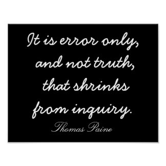 Truth Does Not Shrink - Quote and Print