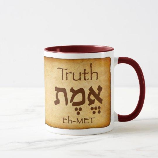 TRUTH EMET Hebrew Mug