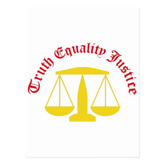 Truth Equality Justice Postcard