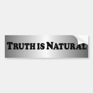 Truth is Natural - Basic Bumper Sticker
