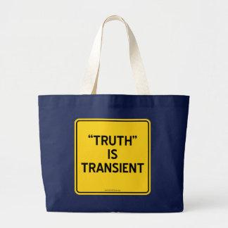 """TRUTH"" IS TRANSIENT JUMBO TOTE BAG"