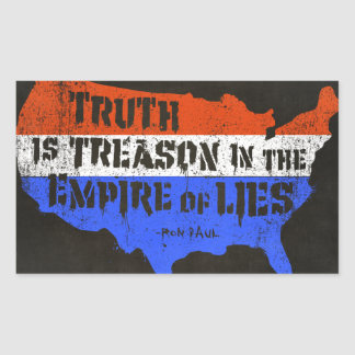 Truth Is Treason In The Empire Of Lies Rectangle Stickers