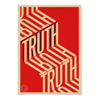 Truth Minimalist Typography Poster