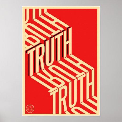Truth Minimalist Typography Poster