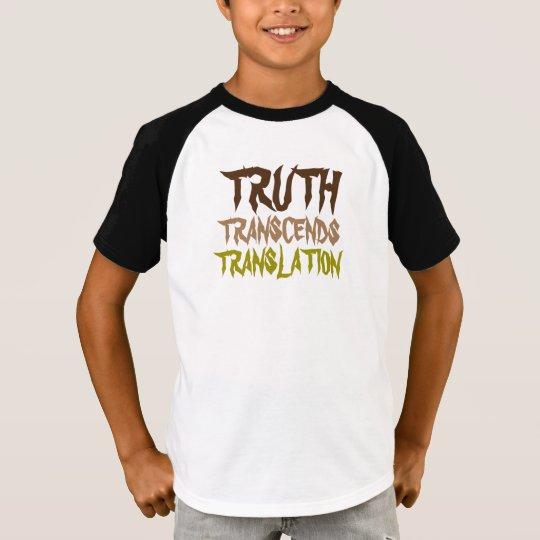 TRUTH TRANSCENDS KIDS GOLD HALF SLEEVE T-Shirt
