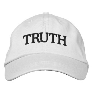 TRUTH White Adjustable Hat Embroidered Baseball Caps