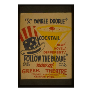 Try A-Yankee Doodle Cocktail Poster