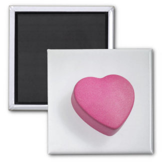 Try again heart candy square magnet