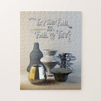 Try & Fail But Don't Fail to Try Stylish Pottery Puzzle