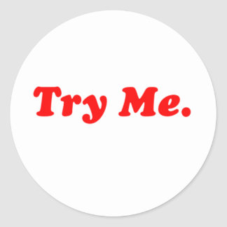 try me classic round sticker