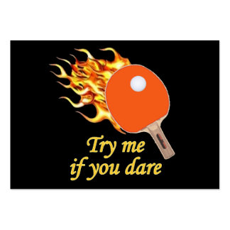 Try Me Flaming Ping Pong Pack Of Chubby Business Cards