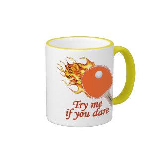 Try Me Flaming Ping Pong Ringer Mug