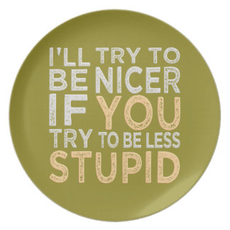 Try To Be Nicer custom color plate