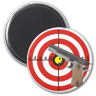 Try to take my guns 6 cm round magnet