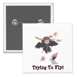 Trying To Fly! - Square Button 2 Inch Square Button