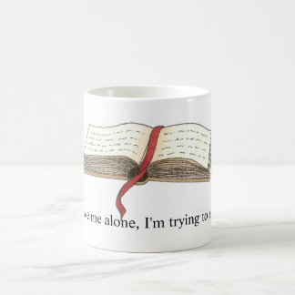 'Trying to Read' Mug