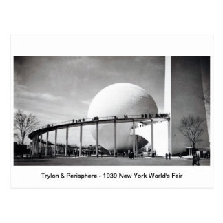 Trylon & Perisphere - 1939 New York World's Fair P Postcard