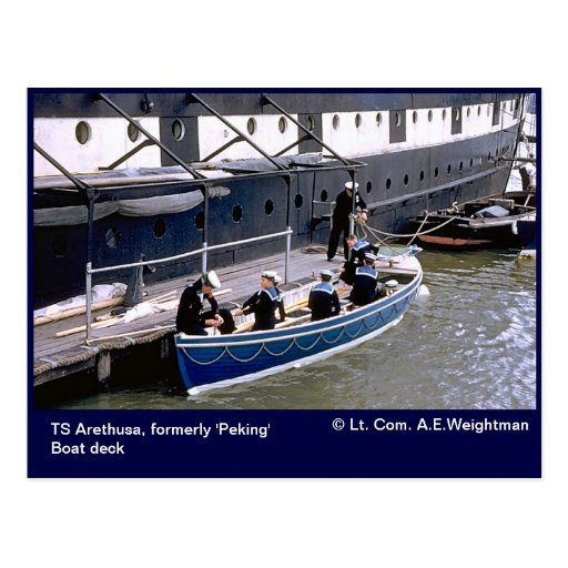 Ts arethusa formerly 39 peking 39 boat deck postcard zazzle for Ts arethusa pictures