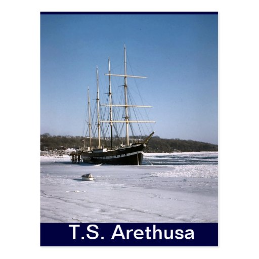 TS Arethusa,in the Medway ice Post Cards