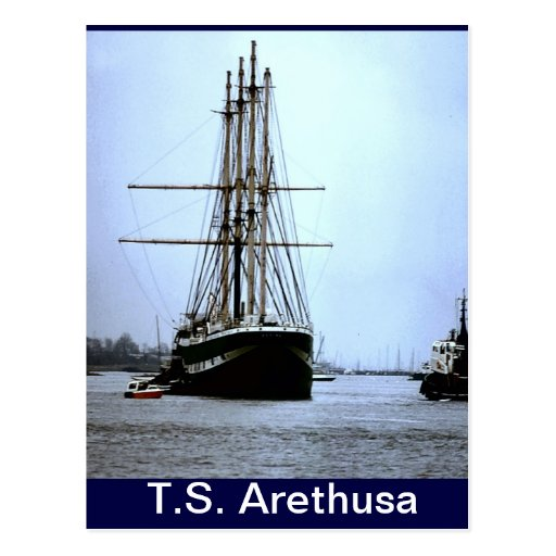 Ts arethusa leaving upnor postcard zazzle for Ts arethusa pictures