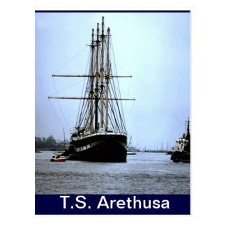 TS Arethusa,Leaving Upnor Postcard
