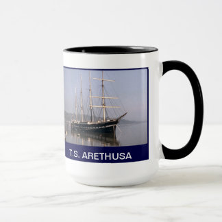 TS Arethusa moored in the Medway Mug
