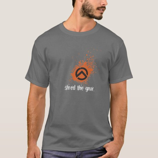 ts-icon-blk-orng, shred the gnar. T-Shirt