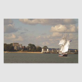TS Royalist entering Poole Harbour Rectangular Sticker
