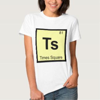 Ts - Times Square New York City Chemistry Symbol Tshirts