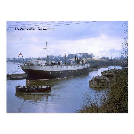 TS Vindicatrix, Avonmouth Postcard