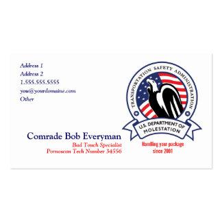 TSA Agent Parody Cards Pack Of Standard Business Cards