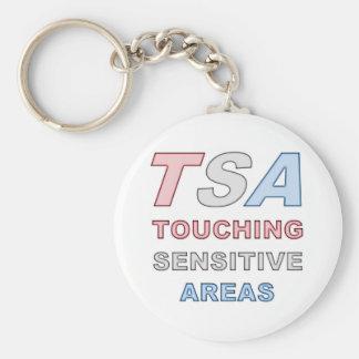 TSA BASIC ROUND BUTTON KEY RING