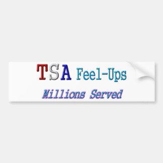 TSA Feel-Ups Millions Served Bumper Sticker
