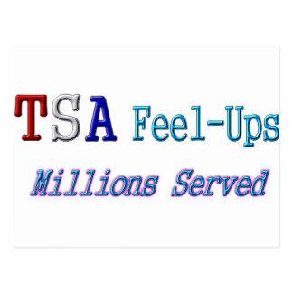 TSA Feel-Ups Millions Served Post Card