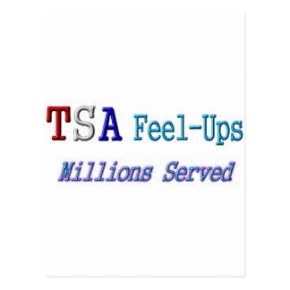 TSA Feel-Ups Millions Served Postcard