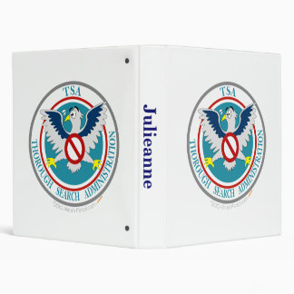 TSA Funny Logo with Cartoon Eagle 3 Ring Binders