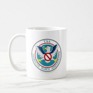 TSA Funny Logo with Cartoon Eagle Basic White Mug
