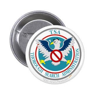 TSA Funny Logo with Cartoon Eagle Button