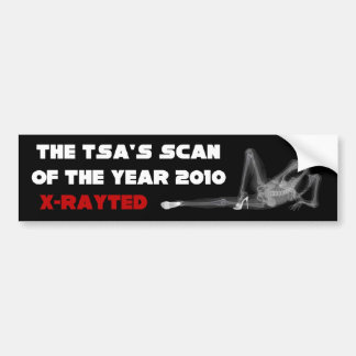 TSA: Scan of the Year 2010 Bumper Sticker