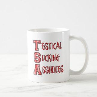 TSA Testical Sucking Assholes Basic White Mug