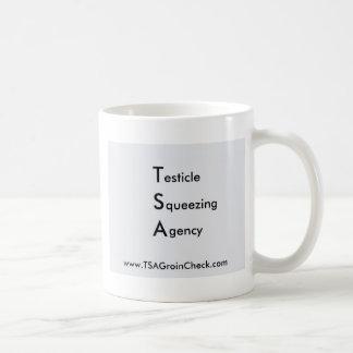 TSA Testicle Squeezing Agency Basic White Mug