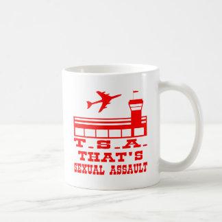 TSA That's Sexual Assault Basic White Mug