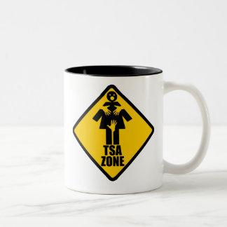 TSA Zone $17.95 Two Toned Coffee Mug