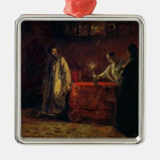 Tsar Boris Godunov  and Tsarina Martha, 1874 Christmas Ornament